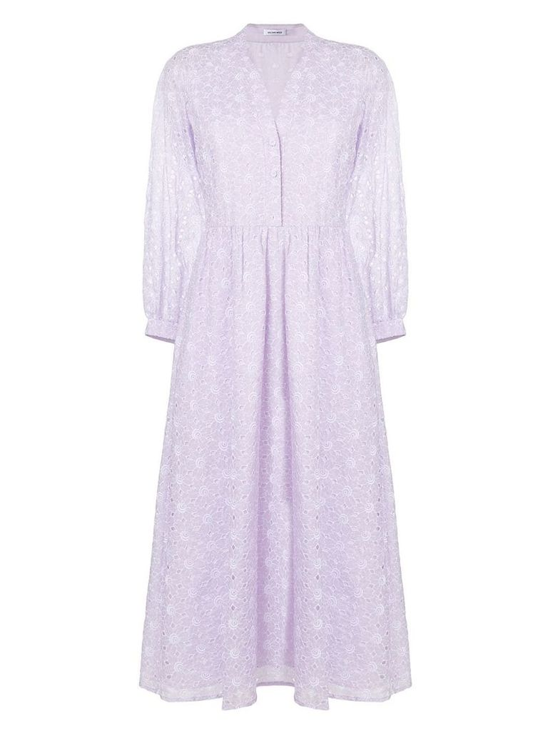 Vilshenko broderie anglaise shirt dress - Pink