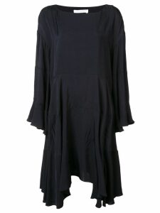 Chloé loose fit ruffled dress - Navy