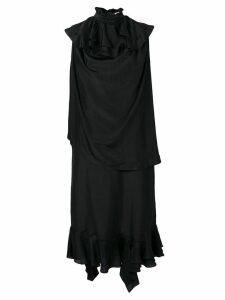 JW Anderson ruffle detail long dress - Black