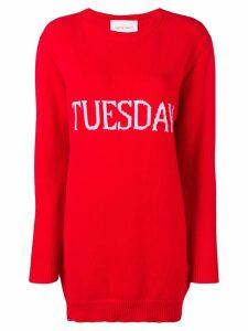 Alberta Ferretti Tuesday sweater dress - Red