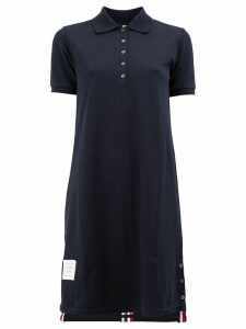 Thom Browne Striped Pique Polo Dress - Blue