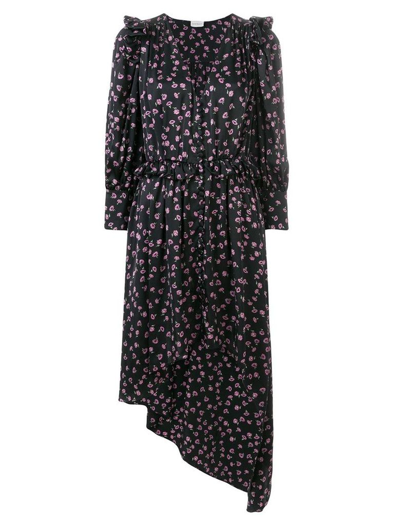 Magda Butrym floral print asymmetric dress - Black