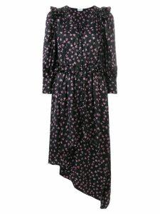 Magda Butrym floral print asymmetric dress - Black
