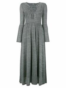 Alexa Chung key-hole flared dress - Grey