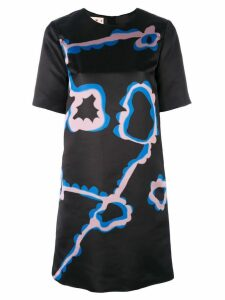 Marni abstract floral A-line dress - Black