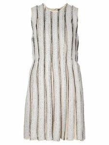 Proenza Schouler frayed stripe shift dress - White