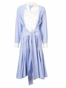 Loewe asymmetric shirt dress - Blue