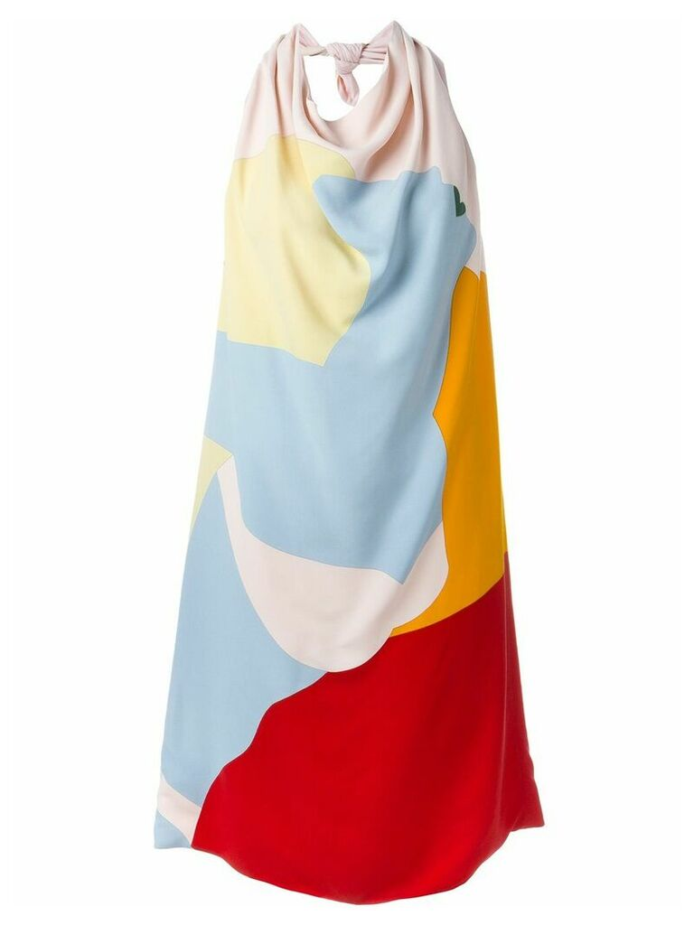 Nina Ricci open back dress - Multicolour