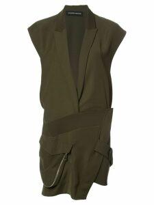 Alexandre Vauthier plunge asymmetric dress - Green