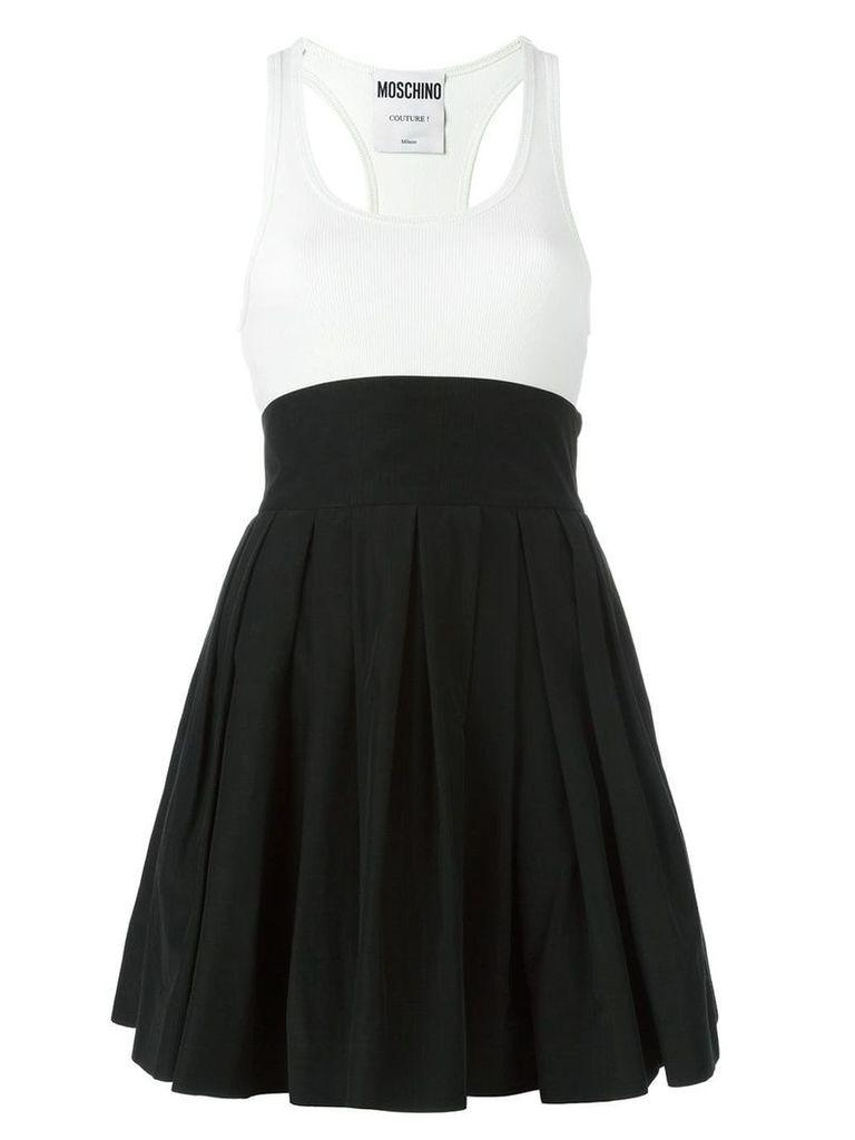 Moschino pleated skirt tank dress - Black