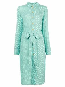 Stine Goya Lykke circle print shirt dress - Green