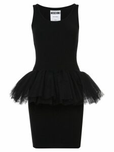 Moschino tulle detail fitted dress - Black