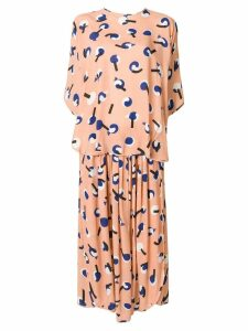 Henrik Vibskov layered print dress - Pink