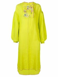 Natasha Zinko asymmetric embroidered maxi dress - Yellow