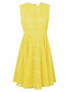 Giambattista Valli lace skater dress - Yellow