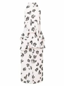Proenza Schouler floral print draped dress - Pink
