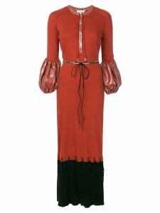 JW Anderson puff sleeve maxi dress - Brown
