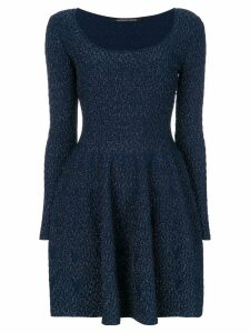 Antonino Valenti slim-fit scoop neck dress - Blue