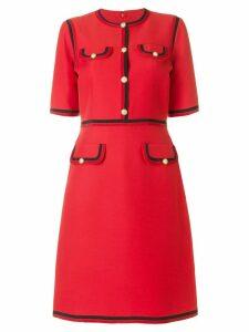 Gucci Web trim shift dress - Red