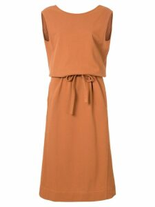 Lemaire bow detail dress - Brown
