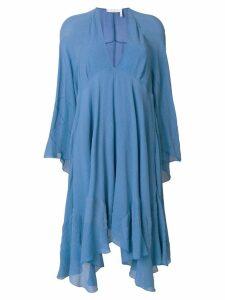 Chloé V-neck handkerchief hem - Blue