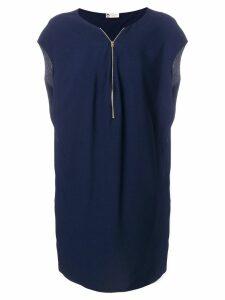 Lanvin zip front dress - Blue