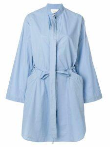 Cédric Charlier tie waist shirt dress - Blue