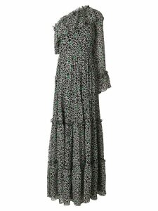 MSGM ruffled maxi dress - Black