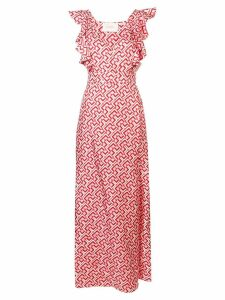 La Doublej v neck long dress - PINK