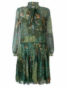 Alberta Ferretti pussybow dress - Green