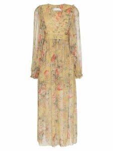 Zimmermann Melody wrap maxi dress - Yellow