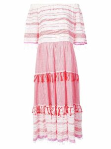 Lemlem Tiki midi tier dress - Red