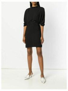 Prada crystal embellished mini dress - Black