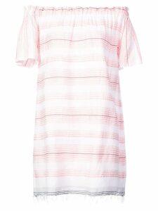 Lemlem Tereza ruffle neck dress - Pink