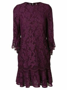 Talbot Runhof floral lace dress - Pink