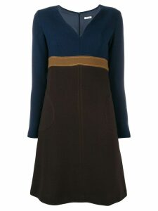 P.A.R.O.S.H. V-neck mini dress - Blue