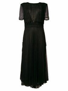 Loewe polka dot pleated dress - Black