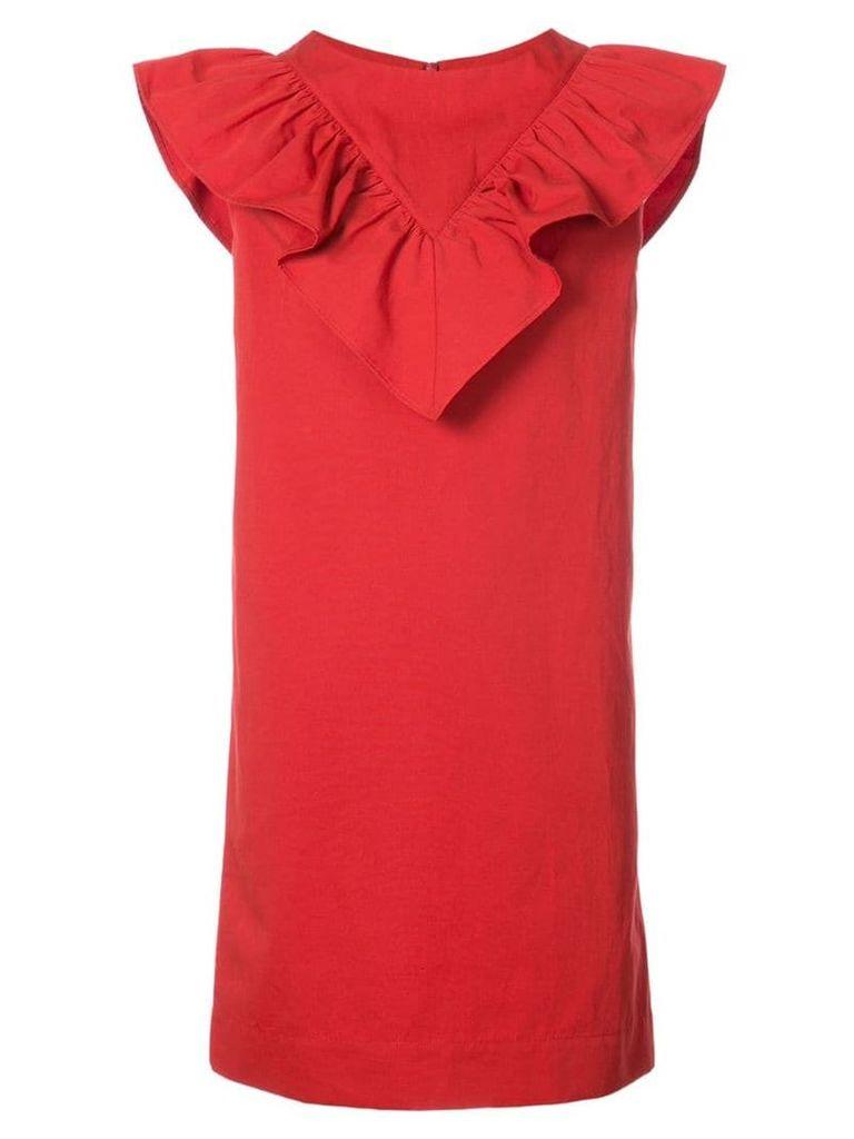 Atlantique Ascoli frill trim dress - Red
