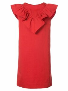 Atlantique Ascoli frill trim dress - Red