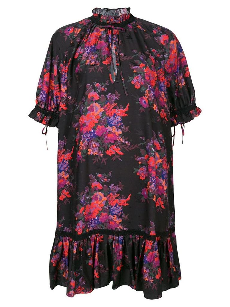 McQ Alexander McQueen floral print dress - Black