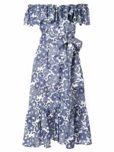 Lisa Marie Fernandez tie-waist midi dress - Blue