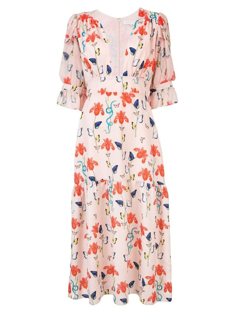 Borgo De Nor floral print flared dress - Pink