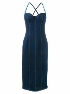 Natasha Zinko faux pearl embellished dress - Blue