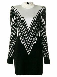 Balmain roll neck dress - Black