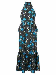 Borgo De Nor Jasmine floral long dress - Black