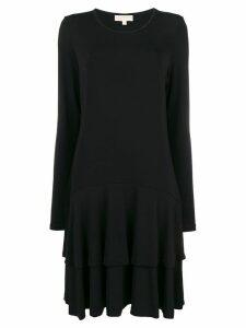 Michael Michael Kors pleated t-shirt dress - Black
