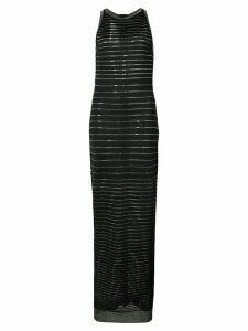Balmain metallic stripe maxi dress - Black