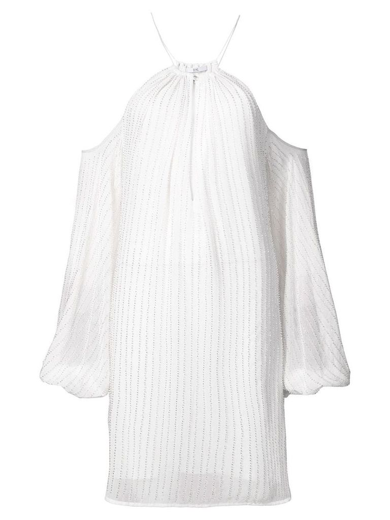 Zac Zac Posen Marianne dress with cut out shoulders - White