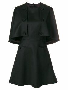 Sara Battaglia front buttons detail a-line dress - Black