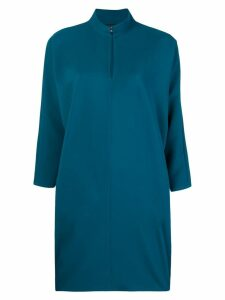 Gianluca Capannolo slit neck cocoon dress - Blue